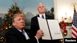 Serok Trump di Berfanbara 2017'an de dîyar kiribû ku ewê Orşelîmê wek paytaxta Îsraîlê bibînin