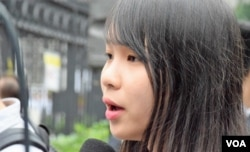 香港眾志常委周庭。(美國之音湯惠芸)