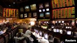 Tempat taruhan dan judi olahraga di Las Vegas Hilton in Las Vegas, Nevada. (Foto: Dok)