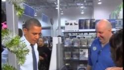奥巴马总统上街购物为女儿挑圣诞礼物