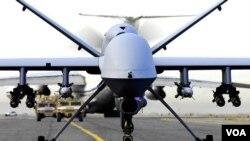 Un avión teledirigido MQ-9 como el de la foto se estrelló en el Aeropuerto Internacional de Seychelles, en la isla de Mahe.