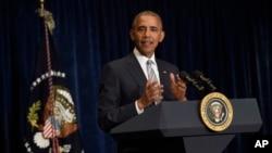 Le président américain Barack Obama, à Varsovie, Pologne, 8 juillet 2016.