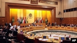 Arab League's emergency meeting in Cairo.
