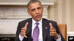 """El presidente Obama reiteró que el empleo de armas químicas en Siria sería cruzar una """"línea roja""""."""