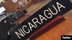 """Sesión especial del Consejo Permanente de la OEA para """"Considerar la situación en Nicaragua""""."""