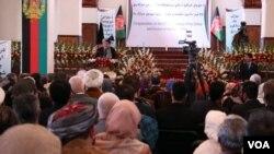 افغان صدر کابل کې د گل، دوشنبې، په ورځ د بریا ورځې دستورې ته وینا کوله چې افغانستان نه د پخواني شوروي اتحاد یا روسي ځواکونو د انخلا په مناسبت نمانځلی کیږي