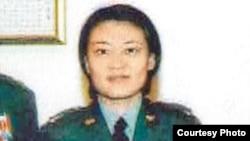 在英国遭逮捕的台湾军情局中尉叶玫(照片来自翻摄东森电视)