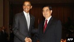 Барак Обама и Ху Цзинтао