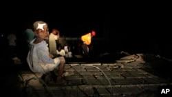 An child injured in the Haitian earthquake