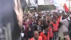 埃及妇女示威 争取女性权利