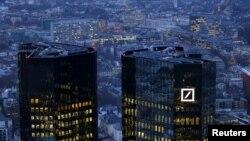Trụ sở của ngân hàng Deutsche Bank ở Frankfurt, Đức