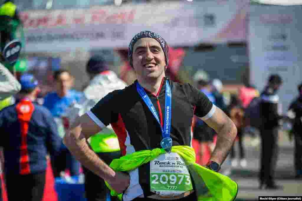 Vaşinqton marafonunun azərbaycanlı iştirakçısı Rasim Zülfüqarov. 10 mart, 2018