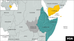 Horn of Africa map
