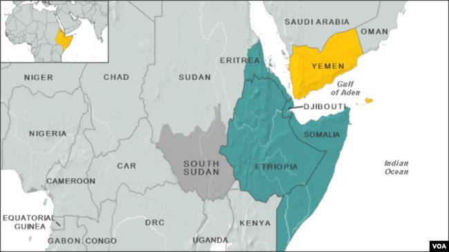 Fidel Castro Left Mark On Somalia Horn Of Africa - Horn of africa map