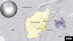 Map of Paktika region of Afghanistan