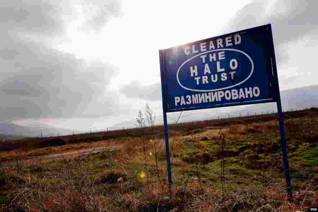 Британская группа Halo Trust занимается разминированием наследия войны 1992-1994 годов.