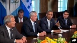 Durante su primera visita a EE.UU. los presidentes centroamericanos pidieron al presidente Obama ayuda financiera para combatir el hambre y la violencia en sus países como parte de la estrategia para frenar la migración ilegal.