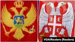 Zastave Crne Gore i Srbije