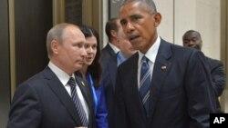 Predsednici Rusije i SAD, Vladimir Putin i Barak Obama
