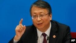 Ông Trầm Xuân Diệu tại một cuộc họp báo hồi tháng 3/2018 (ảnh tư liệu)