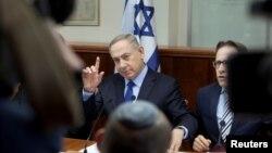 以色列總理內塔尼亞胡星期天與以色列內閣開會。