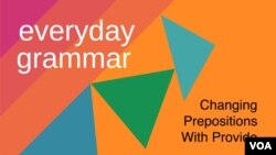 Changing Prepositions With Provide