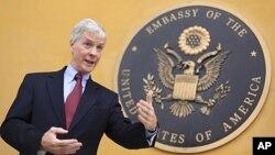FILE - Ryan Crocker, the former U.S. ambassador to Afghanistan.