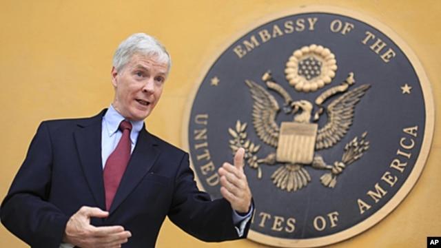 Ryan Crocker, the U.S. ambassador to Afghanistan (file photo)