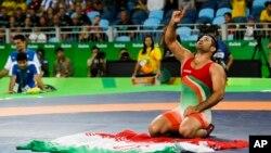 سعید عبدولی بعد از کسب مقام سومی المپیک