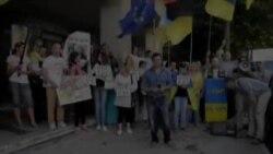 Українці Лісабона заспівали лайливу пісню про Путіна