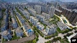 溫州市的公寓居住區(資料照片)