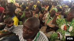 Zanu PF supporters attending the 18th Annual People's Conference in Goromonzi, Mashonaland East province, Zimbabwe.