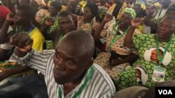 Zanu PF supporters attending the 18th Annual People's Conference in Goromonzi, Mashonaland East province, Zimbabwe.