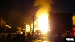 انفجار و آتش سوزی در شهران- غرب تهران