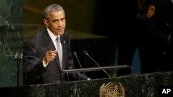 Barack Obama prononce un discours devant l'Assemblée générale des Nations unies, 28 septembre 2015