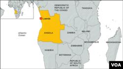Map of Angola