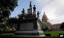 The Texas State Capitol Confederate Monument stands on the south lawn in Austin, Texas, Aug. 21, 2017.