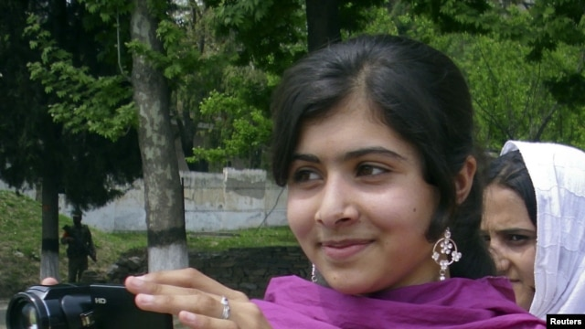 Malala Yousufzai is seen in Swat Valley, northwest Pakistan, in this undated file photo.