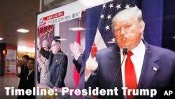 Trump ki tap pale de plan li genyen pou l fè fas ak menas Korea fi Nò a.