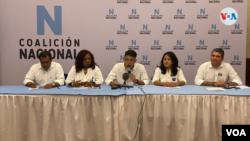 Opositores en el lanzamiento de la Coalición Nacional, uno de los muchos intentos que han fallado en Nicaragua para aglutinar a la disidencia. [Foto: VOA/Houston Castillo]