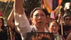 流亡藏人抗议中国镇压藏人