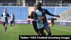 Samba Diop jeune joueur du Havre Athletic club décédé, Havre, France, 6 avril 2018. (Twitter/HAC Football)