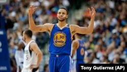 Steph Curry des Golden State Warriors, Dallas, le 21 mars 2017.
