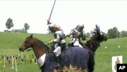 Prizor s viteškog turnira u Angoli, Indiana