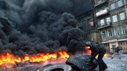การประท้วงในยูเครนร้อนแรงท่ามกลางอากาศหนาวเย็น