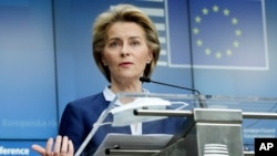 Chủ tịch Ủy ban Châu Âu, Ursula von der Leyen.