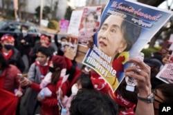 Maandamano Japan yakilaani mapinduzi ya kijeshi dhidi ya serikali ya Aung San Suu Kyi, Mynmar.