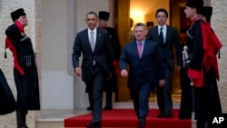 Барак Обама и король Иордании Абдулла.
