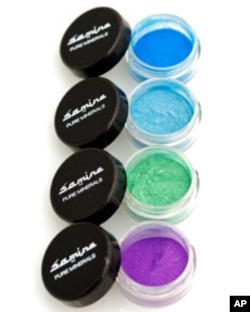 Samina pure mineral makeup - eye shadows