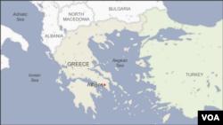 Map of the Aegean Sea, Greece and Turkey
